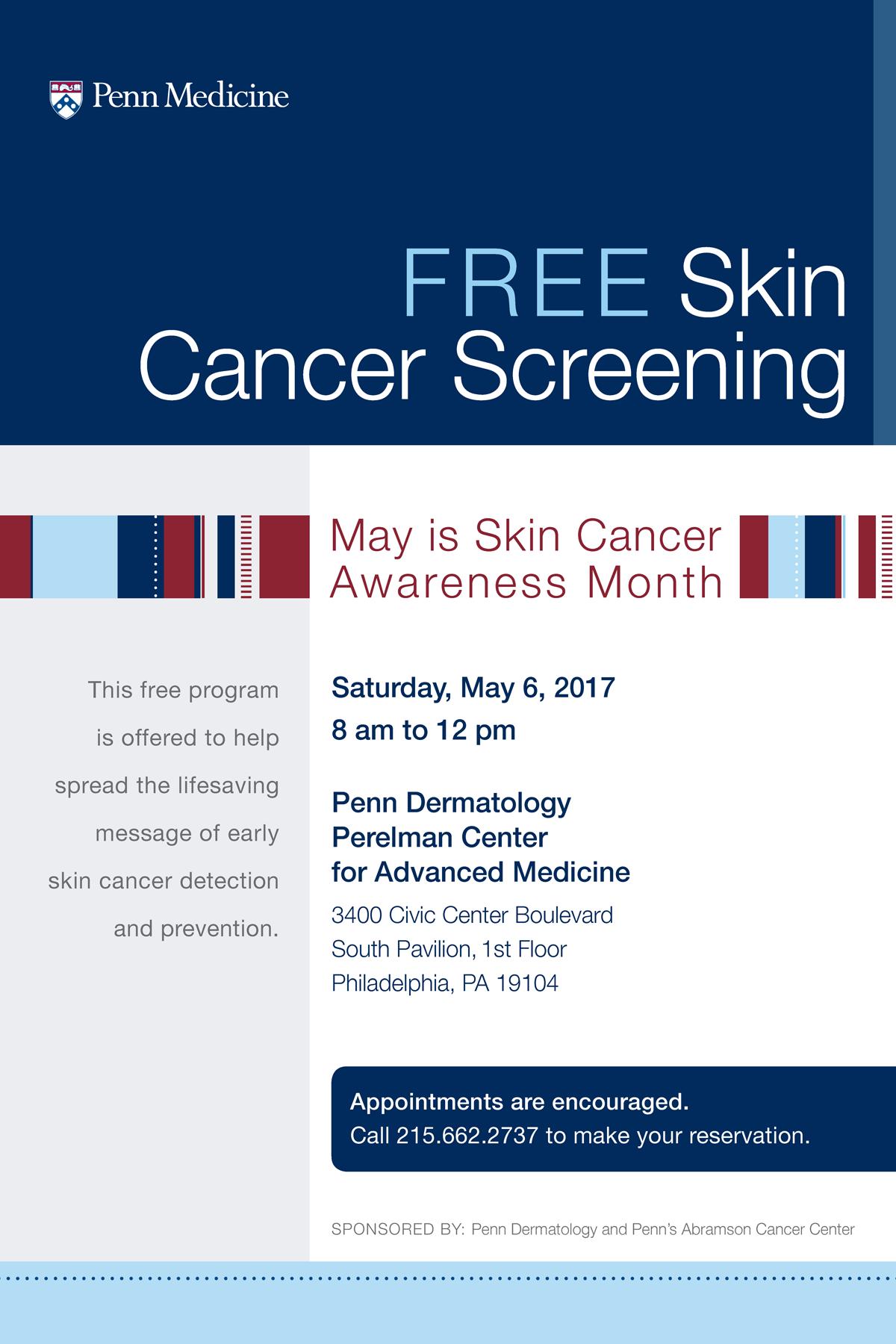 Free Skin Cancer Screening Penn Dermatology Events